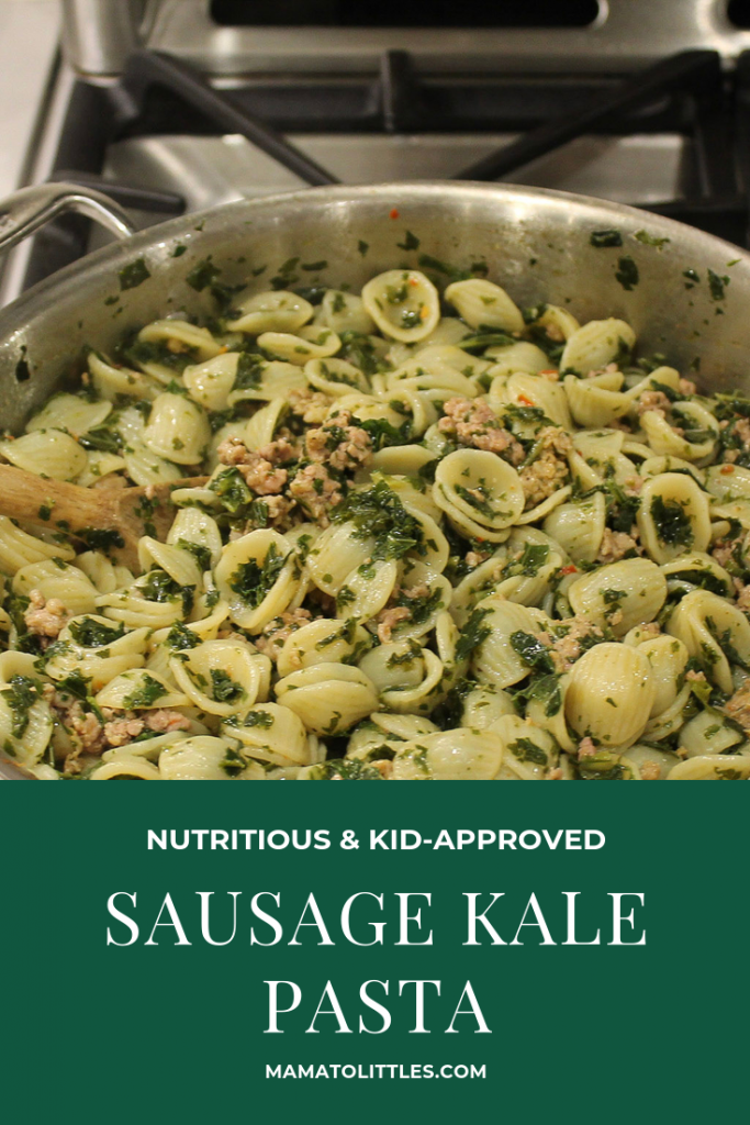 healthy sausage kale pasta for the family