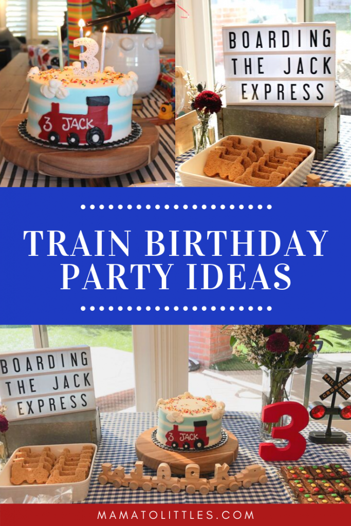 Train Birthday Party Ideas and Decorations