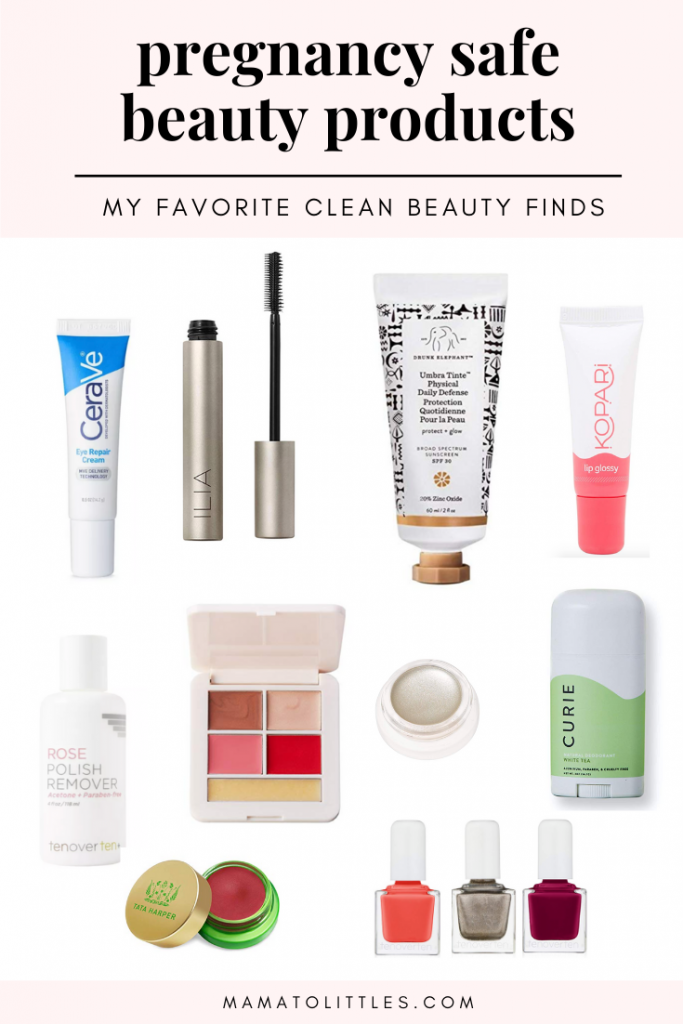 clean all-natural beauty products for pregnancy