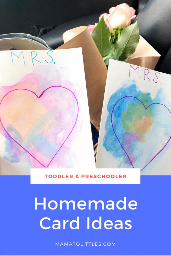 Homemade Valentines Day Card Ideas for Toddlers and Preschoolers