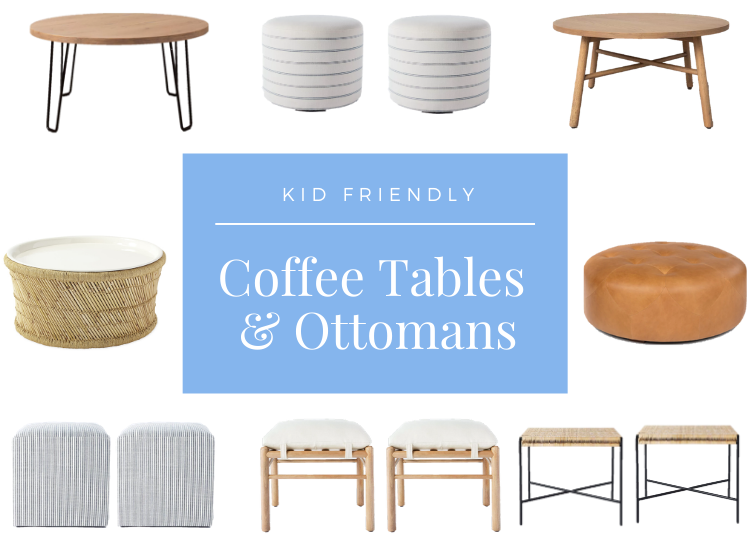 Kid Friendly Coffee Tables and Ottomans